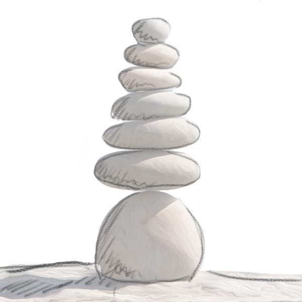 Perfectly balanced rocks are a good metaphor for the ideal meditation posture.