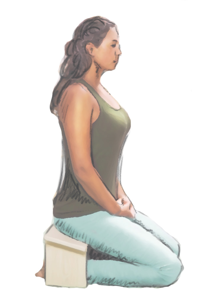 Zazen bench provides the ideal meditation posture without a lot of the pain of Lotus.