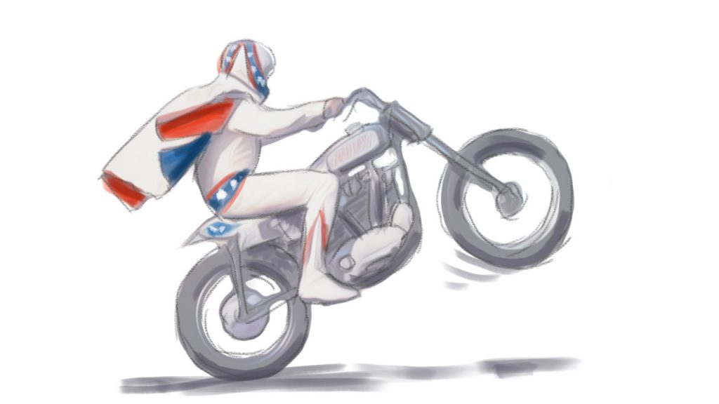 Mindfulness - Evel Knievel is naturally mindful during his stunts